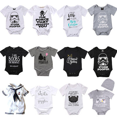 Hot Casual Newborn Baby Boy Girl Romper Bodysuit jumpsuit Summer Clothes - Hot Outfits