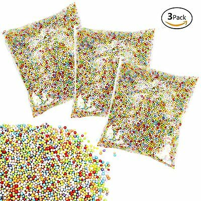 60000 Mini Styrofoam Foam Ball Bead DIY Craft Color Particle Early Education New