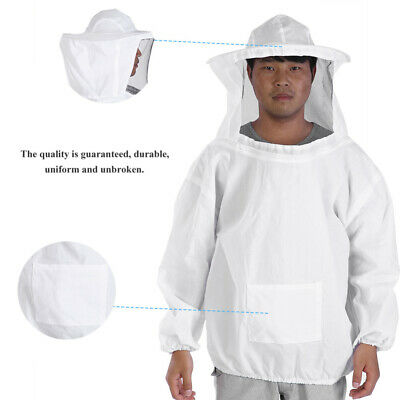 Beekeeping Jacket Veil Bee Keeping Suit Cotton Hat Pull Over Smock Protect Equip