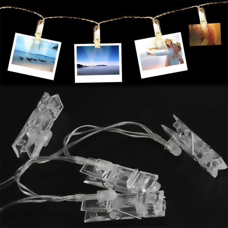 Frame Beautiful Warm White Cards LED Photo Clips String Pict
