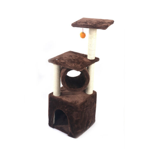 """16""""19""""36""""52""""80"""" Cat Tree Play House Tower Condo Furniture Scratch Post Basket"""