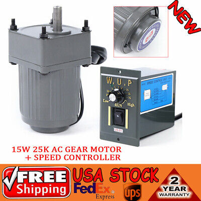 110v15w Ac Gear Motor Electric Variable Speed Controller Automation 540rpm