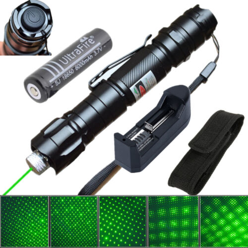 Military 5mw 009 Laser Pointer Pen Lamp 532nm Visible Beam Zoom + 18650 Battery