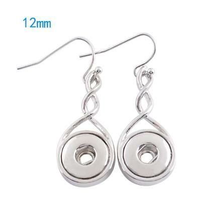 Small Snap - SMALL SNAP * Twist Pierced Dangle Earrings Snap Chunk 12MM Fits Ginger Snaps
