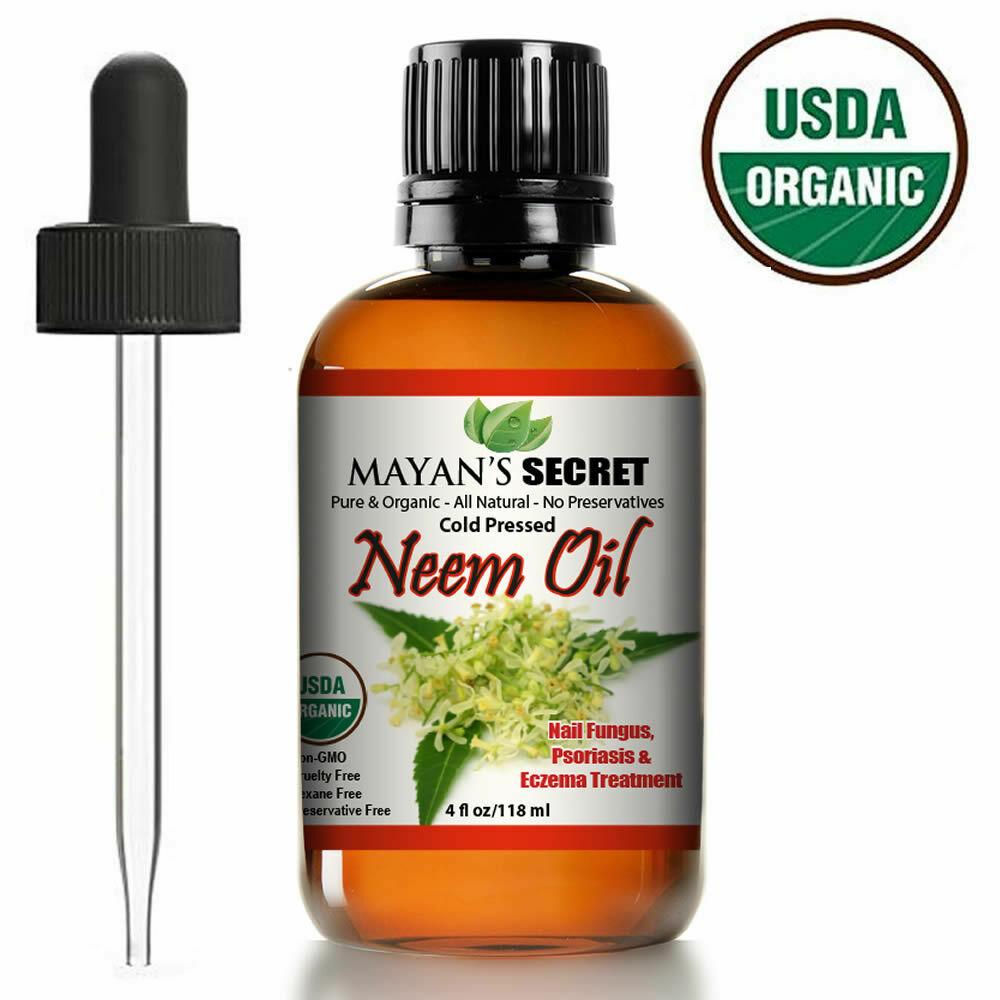NEEM OIL USDA CERTIFIED ORGANIC UNREFINED CONCENTRATE COLD PRESSED RAW PURE 4 OZ Health & Beauty
