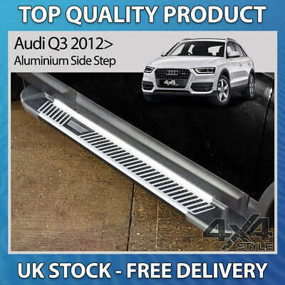 Audi Q3 2012-2017 High Flyer Aluminium Stainless Steel Side Steps Bars Running