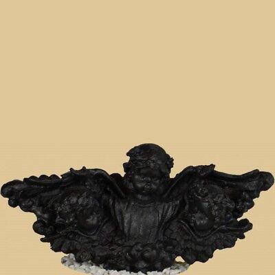 Wandapplikation 3 Putten Antik Schwarz Gusseisen Wandskulptur Garten Skulpturen