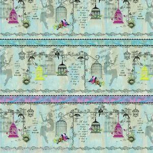 stoff song birds bord re baumwollstoff quilt meterware patchworkstoff patchwork ebay. Black Bedroom Furniture Sets. Home Design Ideas
