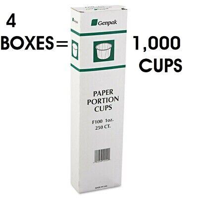 Genpak F100 1oz Paper Portion Cups Condiments Meds Shots 1000 Count