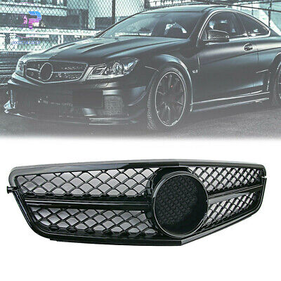 NEW Front Black AMG Grill Grille For Mercedes-Benz W204 C-Class 2007-2014