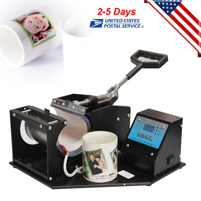 Dual Digital Display Heat Press Transfer Sublimation Machine For Cup Mug Us Ship