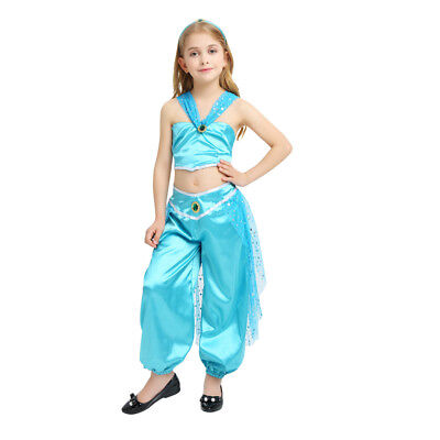 Girl's Aladdin Jasmine Princess Dress Up Kids Costume Cosplay Halloween - Princess Jasmine Dress Up Outfit