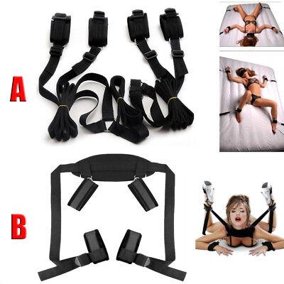Adult Restraint Under Bed System Set Bondage Strap Cuffs Kit BDSM Toys