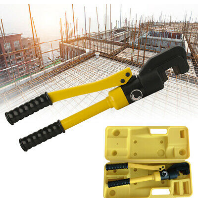 Hydraulic Rebar Cutter Steel Bar Shears Bolt Chain Cutting Tool 8t 4-16mm Wbox
