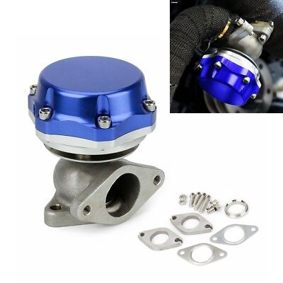 38mm Turbo External Wastegate Replaces Tial Exhaust Air Valve Dump Flange Blue