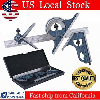 Blem Cosmetic Second Pec 12  4R 4 Pc Combination Machinist Square Protractor Ap