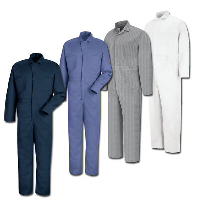 100% Cotton Uniform (Red Kap 100% Cotton Button-Front Work Uniform Coverall Irregular CC16 NV/ PB/ HB )