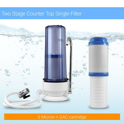 2 Stage CounterTop Single Flat Double Layered Drinking Max Water Filter Purifier Countertop Double Stage Filter