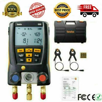 Testo 550 Refrigeration Meter Digital Manifold 0563 1550 2pcs Clamp Probes Kit