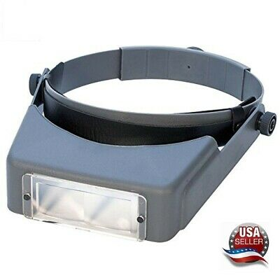 Jewelers Headband Magnifier Visor Glasses With 3 Coated Lenses Made In USA