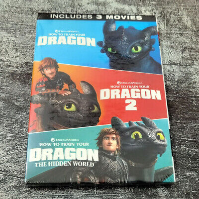 How To Train Your Dragon 1-3 Includes 3 Movies (DVD,3-Disc) Fast shipping New