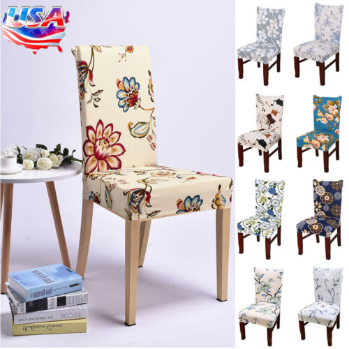 US Removable Stretch Chair Covers Slipcovers Dining Room Sto