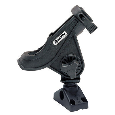 Scotty #280-bk Baitcaster Spinning Rod Holder W #241 Side Deck Mount (Black) 8