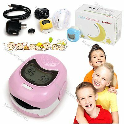 Kid Use Pediatricchild Fingertip Pulse Oximeter Lcd Display Cms50qa Spo2 Oxygen