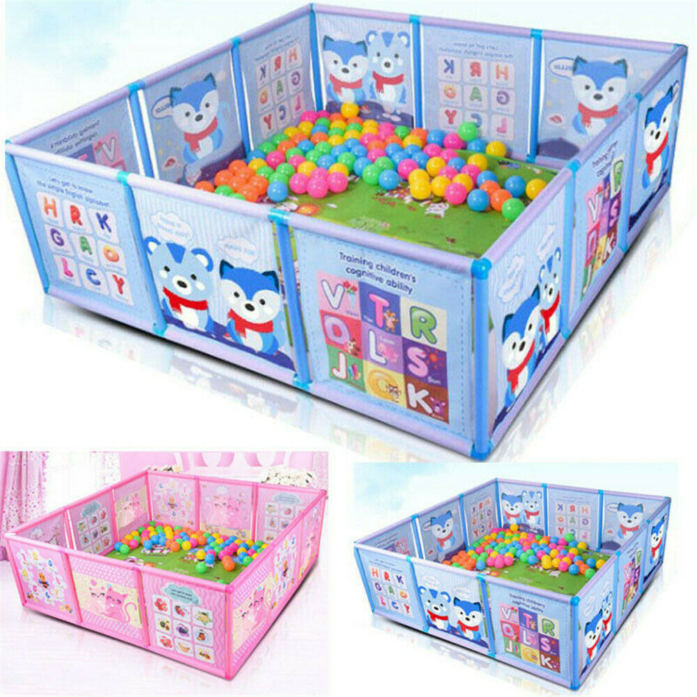 cartoon children kids play pen fence playpen