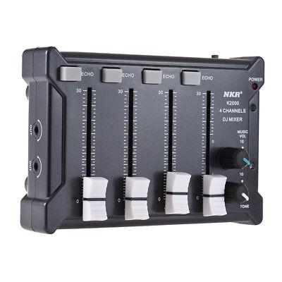 Professional Mini Pocket 4-Channel mono Stereo Audio DJ Sound Mixer USB F5C8 Mono Mini Mixer