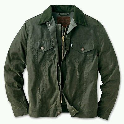 LEVI FILSON OTTER GREEN HUNTER TRUCKER JACKET L/XL OIL FINISH SHELTER CLOTH lvc
