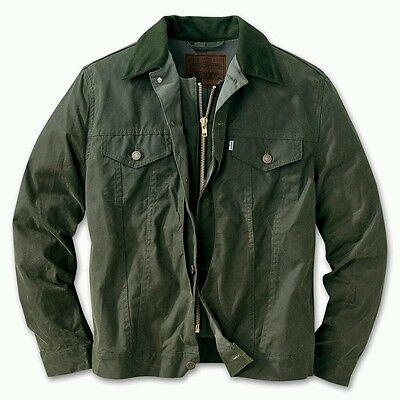 LEVI FILSON GREEN HUNTER TRUCKER JACKET L WAXED COTTON OIL FINISH SHELTER CLOTH