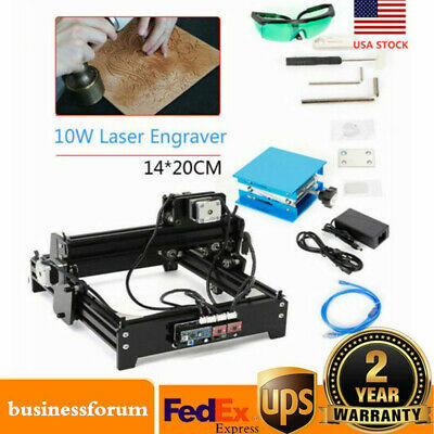 Usb 10w Diy Desktop Cnc Engraver Metal Laser Cutter Engraving Carving Machine Us