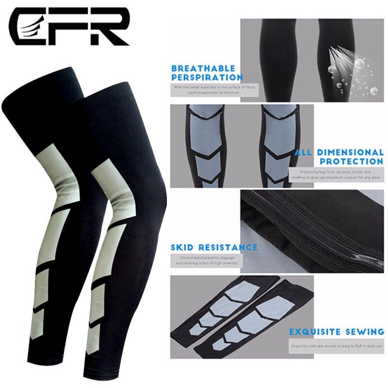 Sports Knee Calf Support Antislip Basketball Leg Long Sleeve Protector Brace C20