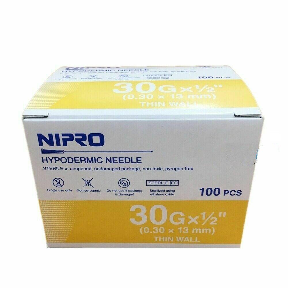 hypodermic needle 30g x 1 2 0