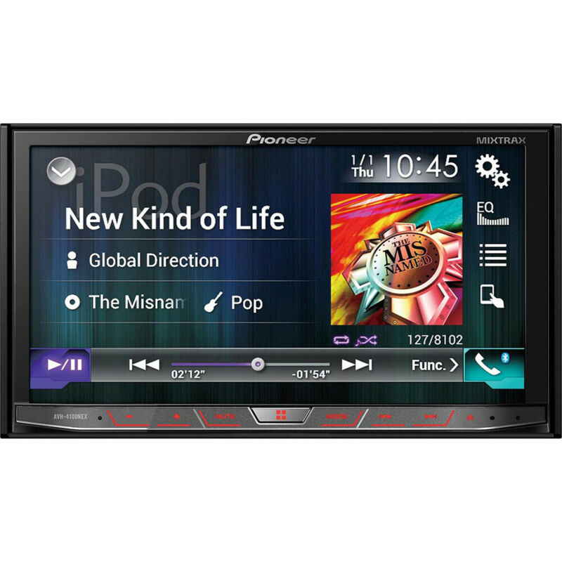 """2-DIN Flagship DVD Receiver with 7"""" WVGA Touchscreen Display"""