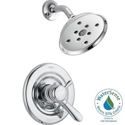 Delta Lahara 1-Handle H2Okinetic Shower Only Faucet Trim Kit in Chrome