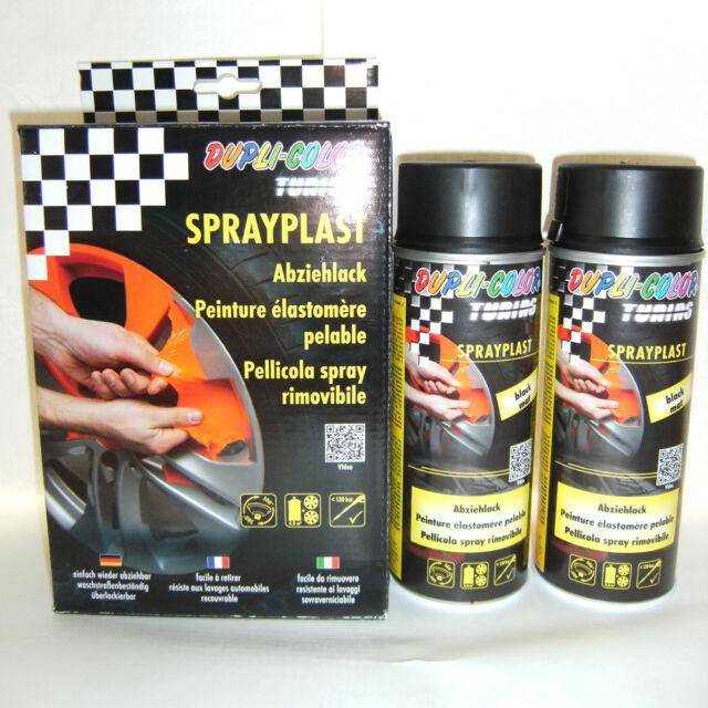 Dupli Color Sprayplast 2x400ml Abziehlack Sprühfolie Sprühlack schwarz matt