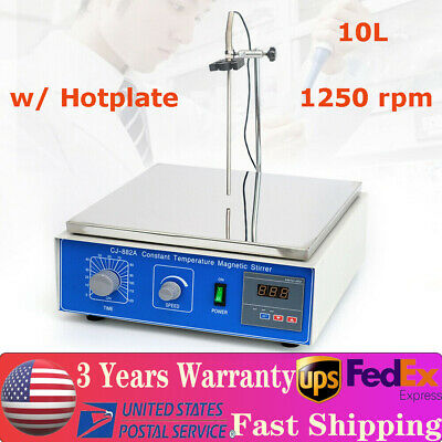 Cj-882a 10l Digital Lab Hot Plate Magnetic Stirrer Mixer Thermostatic 110v New
