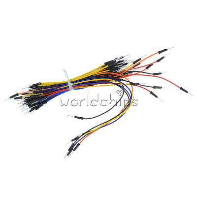Arduino 65pcs Male To Male Solderless Flexible Breadboard Jumper Cables Wires
