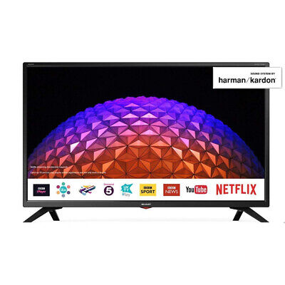 """Sharp 32"""" Inch HD Ready LED Smart TV with Freeview and USB PVR Pause & Play"""