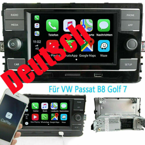Deutsch RCD330 Autoradio Carplay Mirrorlink BT RVC Für MQB VW PASSAT B8 GOLF 7
