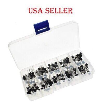 eBay - 200pcs/Box Bipolar Junction Transistor BJT NPN PNP Assortment Kit 10 value Pack