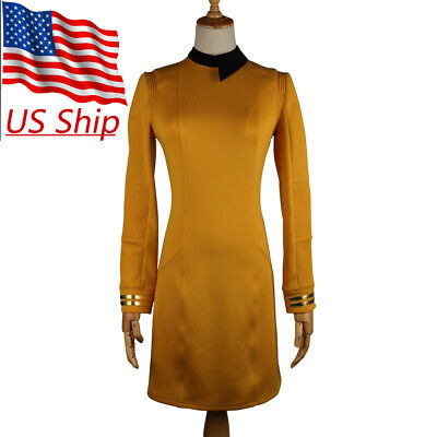 Star Trek Discovery Season 2 Starfleet Commander Female Gold Dresses Badge Set](Star Trek Female Costumes)