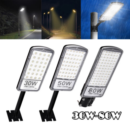 50W LED Straßenbeleuchtung Mastleuchte Straßenlampe Laterne Fluter Warmweiß