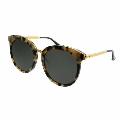 Gentle Monster LoveSome One S3 Beige Havana Gold Plastic Sunglasses Grey -