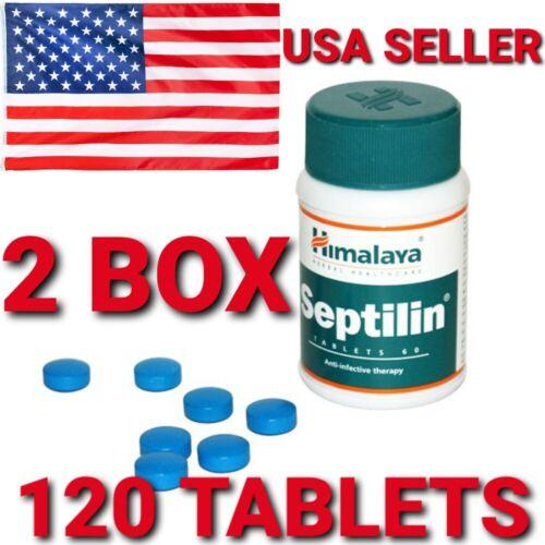 SEPTILIN HIMALAYA 2 BOX 120 TABLETS  IMMUNITY BOOST ALLERGIC DISEASES USA STORE