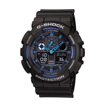 Usado, BOX SET Casio G-Shock GA100-1A2 Ana-Digi Speed Indicator Black Dial Men's Watch segunda mano  Embacar hacia Argentina