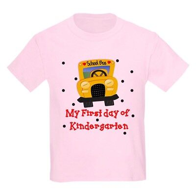 CafePress My First Day Of Kindergarten T Shirt Kids Light T-Shirt (880390551) - 1st Day Of Kindergarten