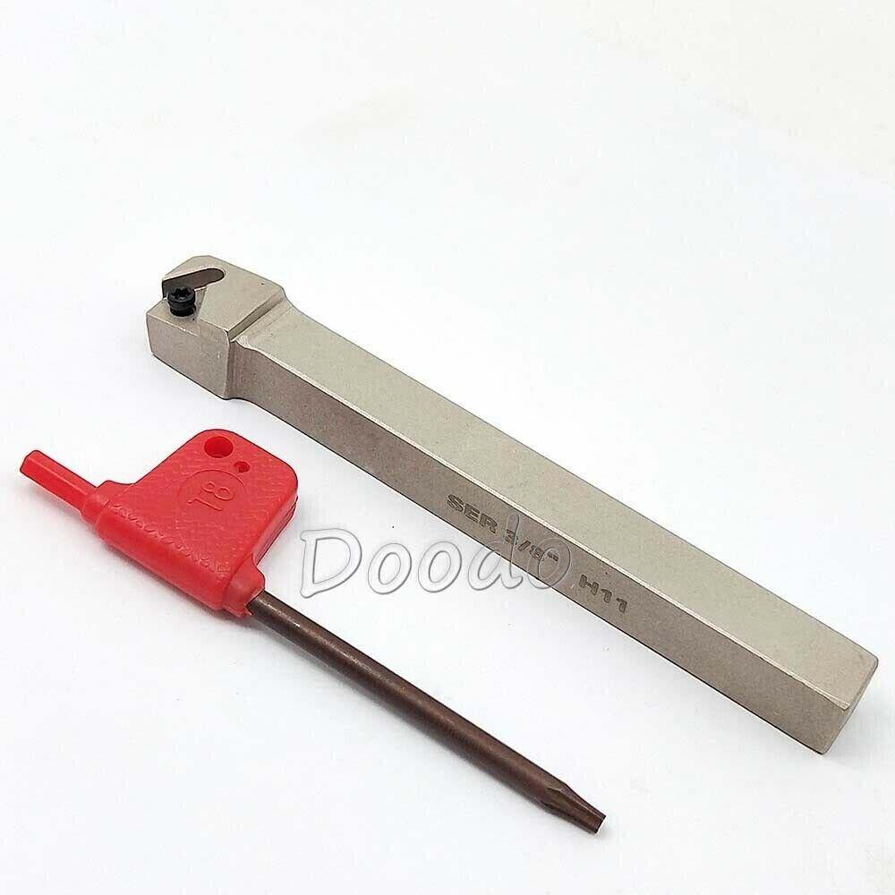 100mm SER1010H11 Lathe Threading Turning Tool Holde 11ER 1//4/'/'AG60 Insert